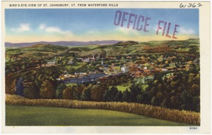 Bird's-eye-view of St. Johnsbury Vt., from Waterford Hills