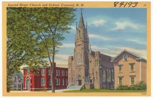 Sacred Heart Church and school, Concord, N.H.