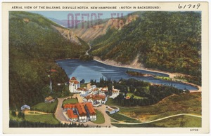 Aerial View of the Balsams, Dixville Notch, New Hampshire (Notch in background)