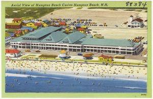 Aerial view of Hampton Beach Casino, Hampton Beach, N.H.