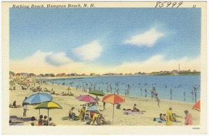 Bathing beach, Hampton Beach, N.H.