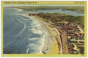 Airplane view of Hampton Beach, N.H.