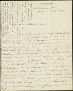 Letter from Catherine Paton, 16 Richmond St., Glasgow, [Scotland], to Maria Weston Chapman, Nov. 17th, 1846