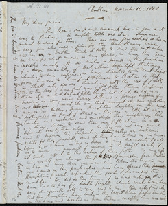 Letter from Richard Davis Webb, Dublin, [Ireland], to Anne Warren Weston, November 14, 1848