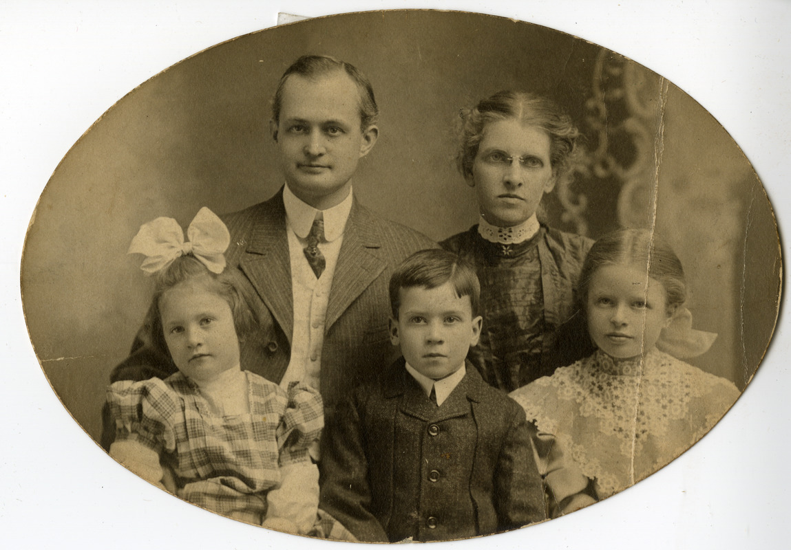 Charles Eugene Monroe family portrait Southbridge Massachusetts
