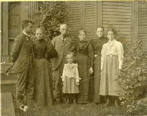 Charles Eugene Monroe family in Southbridge Massachusetts