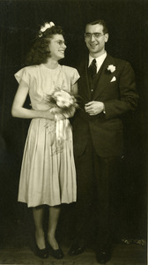 Ralph C. Monroe and Catherine McCormick Monroe on their wedding day