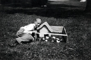 Ernest with Miniature Farm