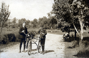 Tommy and Charles with Sociable Tricycle