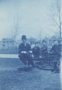 Thomas Stringer with Students on the Health Merry-Go-Round