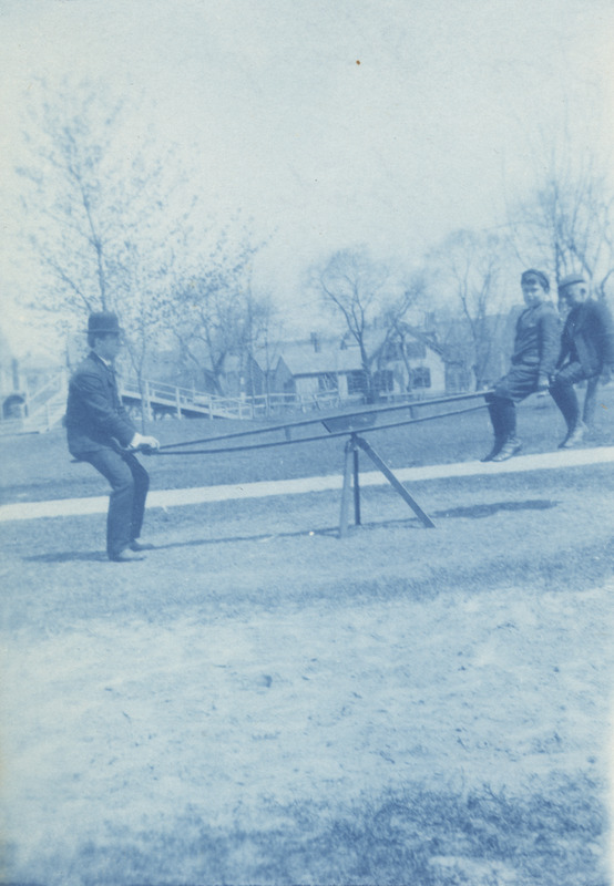 Thomas Stringer on Teeter Totter with Students