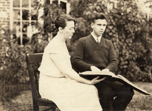 "Winthrop ""Tad"" Chapman and Miss Hall"