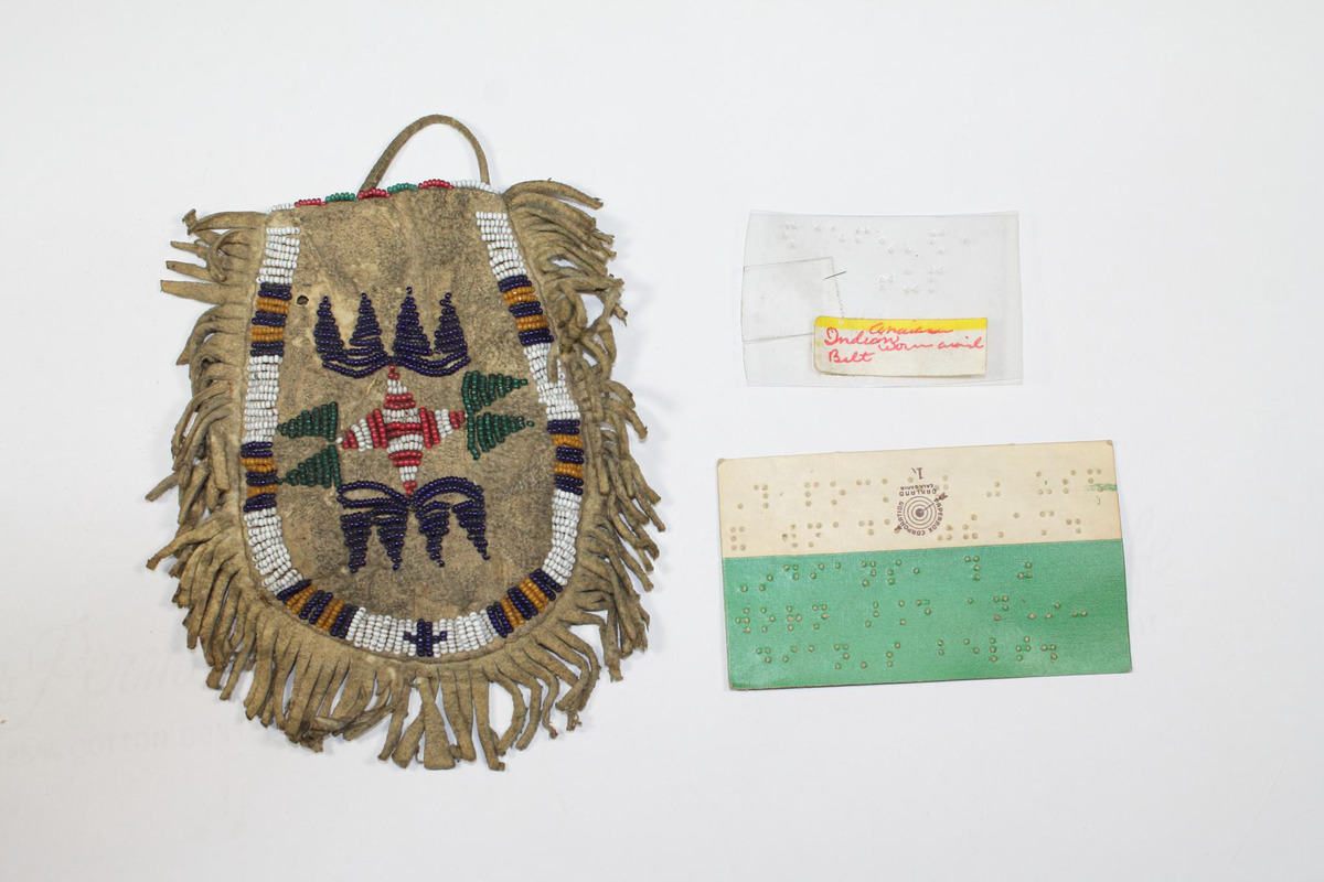 American Indian pouch with beads