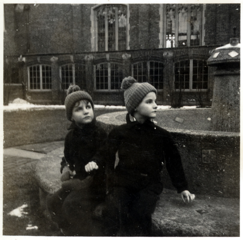 James and Margaret in the courtyard