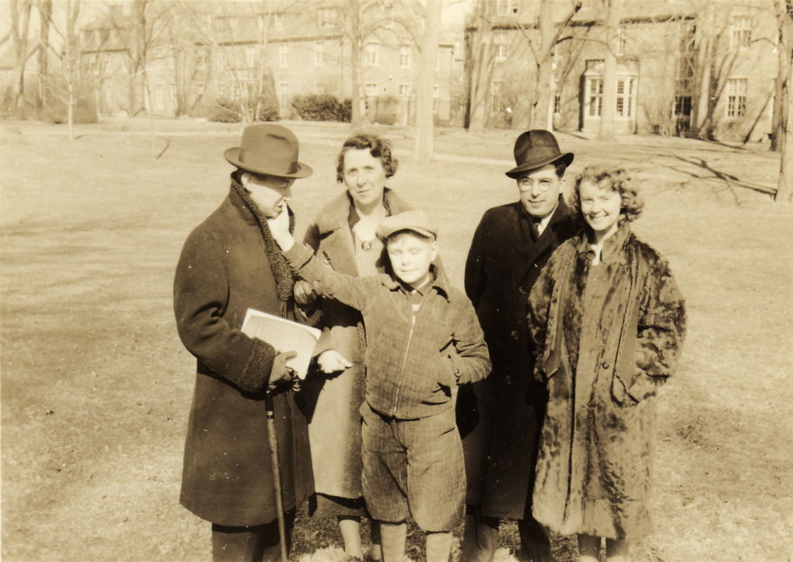 Leonard Dowdy on Lawn with Four Adults