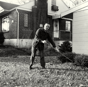 Leonard Dowdy Raking Leaves