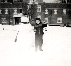 Boy with Snowman