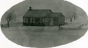 Drawing of Old Red School House - Glendale