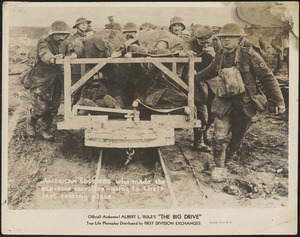 American soldiers transporting the dead