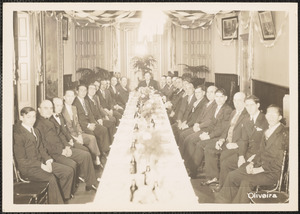 Members of a Portuguese Club at Dinner, New Bedford