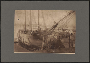 Ashore for repairs, the old Annie J. Pardee