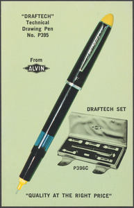 """""""Draftech"""" technical drawing pen no. P395 from Alvin"""