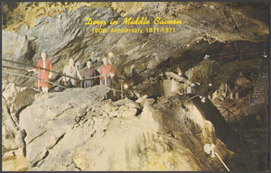 Deep in middle cavern, 100th anniversary 1871-1971