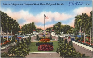 Boulevard approach to Hollywood Beach Hotel, Hollywood, Florida