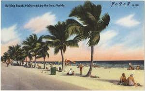 Bathing beach, Hollywood by-the-Sea, Florida