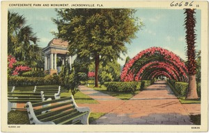 Confederate Park and monument, Jacksonville, Fla.