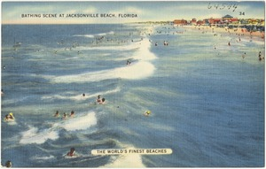 Bathing scene at Jacksonville Beach, Florida