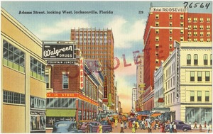 Adams Street, looking west, Jacksonville, Florida