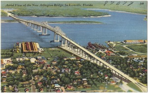 Aerial view of the new Arlington Bridge, Jacksonville, Florida