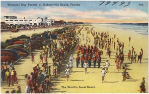 Welcome day parade at Jacksonville Beach, Florida