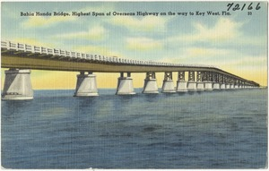Bahia Honda Bridge, highest span of Overseas Highway on way to Key West, Florida