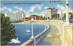 Civic center on Mirror Lake, Lakeland, Florida