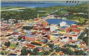 Aerial view of downtown, Lakeland, Florida