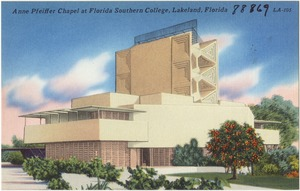 Anne Pfeiffer Chapel at Florida Southern College, Lakeland, Florida
