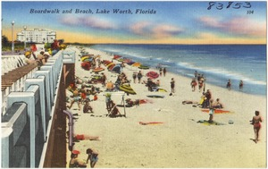 Boardwalk and beach, Lake Worth, Florida