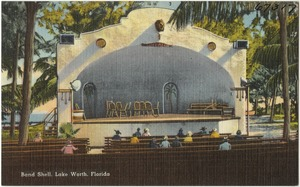 Band shell, Lake Worth, Florida