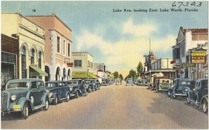 Lake Ave. looking east, Lake Worth, Florida