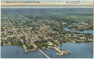 Aerial view of Bradenton, Florida