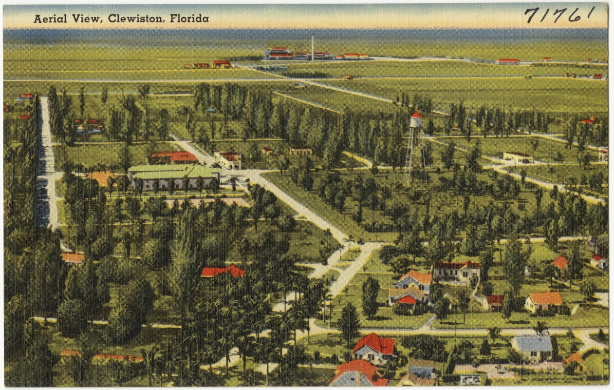 Aerial view, Clewiston, Florida