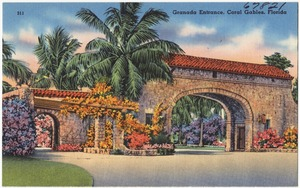 Granada entrance, Coral Gables, Florida