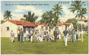 """On the 1st tee"", Coral Gables County Club, Florida"