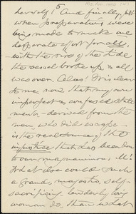 William Henry Channing manuscript letter (fragment) to [Thomas Wentworth Higginson], 27 November 1884