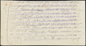 Margaret Fuller autograph letter to W. H. Channing, 25 March 184-?