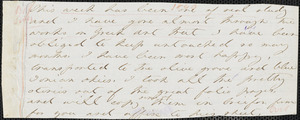 Margaret Fuller autograph letter (fragment) to William Henry Channing, 1840