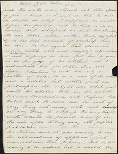 Margaret Fuller autograph letter (incomplete) to William Henry Channing Cambridge, Mass., 29 August 1841