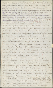 Margaret Fuller autograph letter (incomplete) to William Henry Channing, Cambridge, Mass., 17 June 1843
